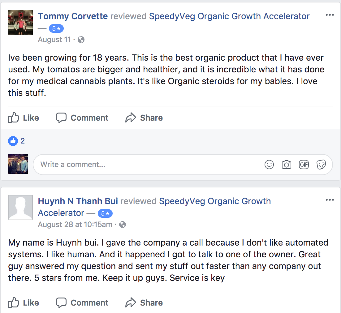 Product | SpeedyVeg™ | Organic Growth Accelerator
